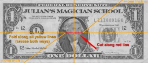 Easy money magic tricks
